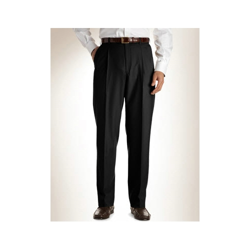 Austin Reed Pleated Wool Gabardine Slacks Thumbnail