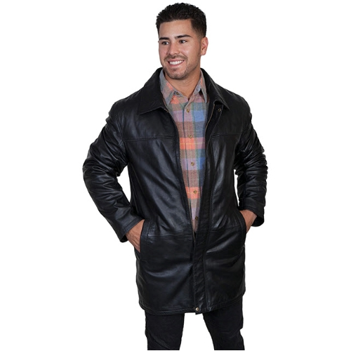 Scully Leather Parka Coat Thumbnail
