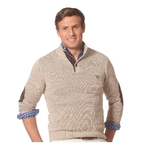 Chaps Cotton Mock Neck Sweater Thumbnail