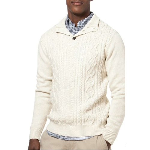 Chaps Cable Knit Mock Neck Sweater Thumbnail