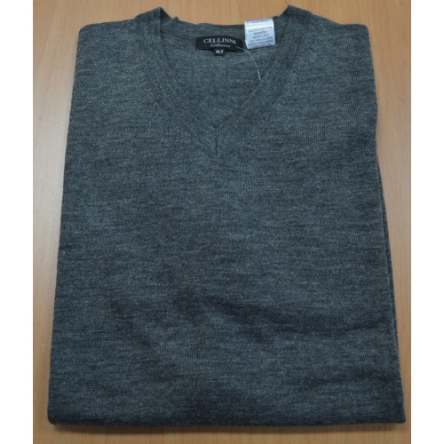 Cellini Wool Blend V-Neck Sweater Thumbnail