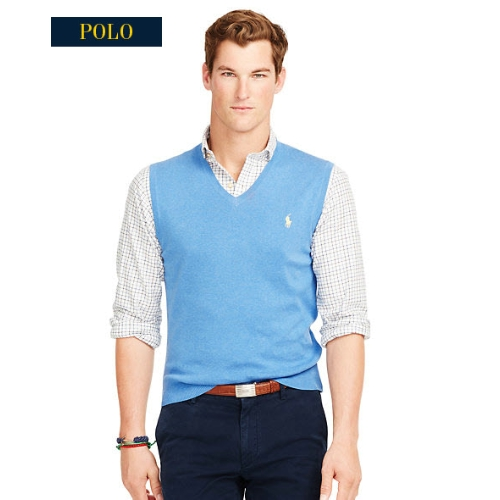Polo Pima Cotton V-Neck Sweater Vest Thumbnail