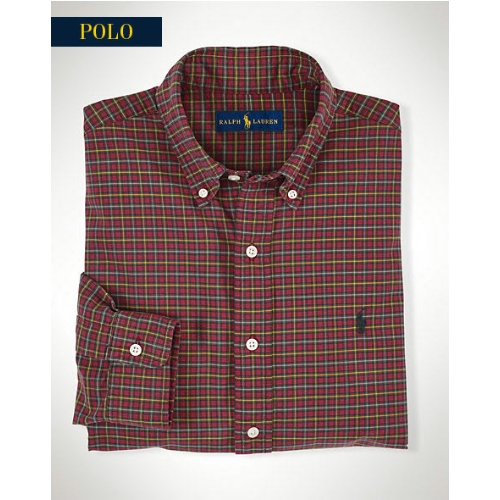 Polo Classic-Fit Plaid Oxford Sportshirt Thumbnail