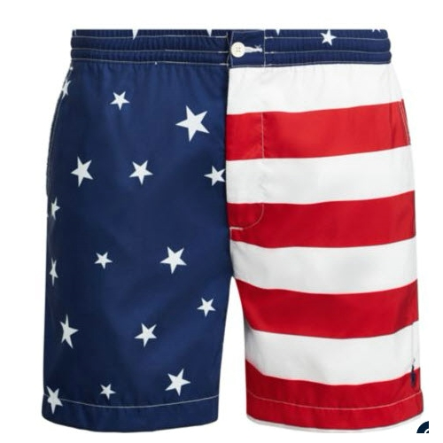 Polo Flag Prepster Swim Trunk Thumbnail