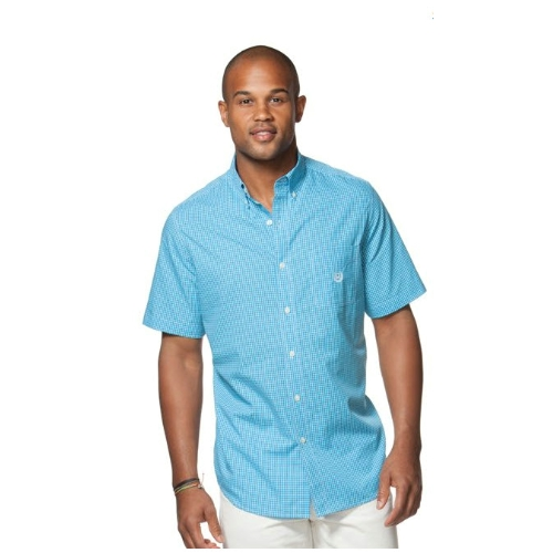 Chaps Short Sleeve Checked Poplin Shirt Thumbnail