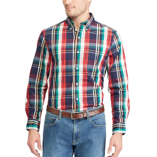 Chaps Beacon Plaid Easy Care Sportshirt Thumbnail