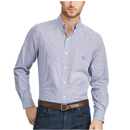 Chaps Easy Care Micro Gingham Shirt Thumbnail