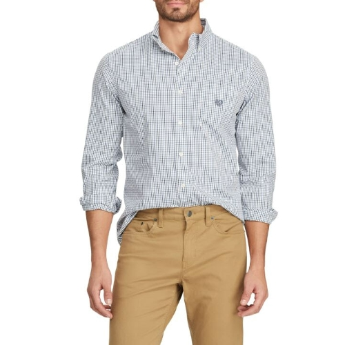 Chaps Easy Care Tattersall Shirt Thumbnail
