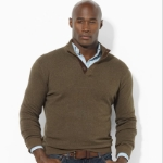 Polo Wool Button Mockneck Sweater Thumbnail