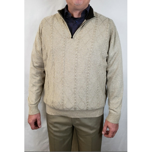 F/X Fusion Cable Quarter Zip Sweater Thumbnail