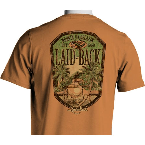 Laid Back Barefoot Beach Hut Tee Thumbnail