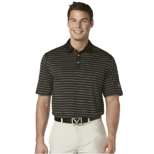 Callaway Golf Opti-Dri Striped Polo Thumbnail