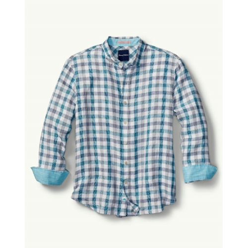 Tommy Bahama Thira Check Linen Shirt Thumbnail