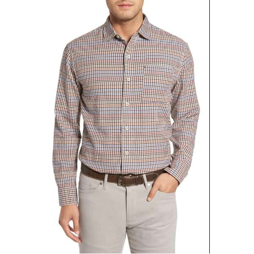 Tommy Bahama Tan Tan Check Shirt Thumbnail