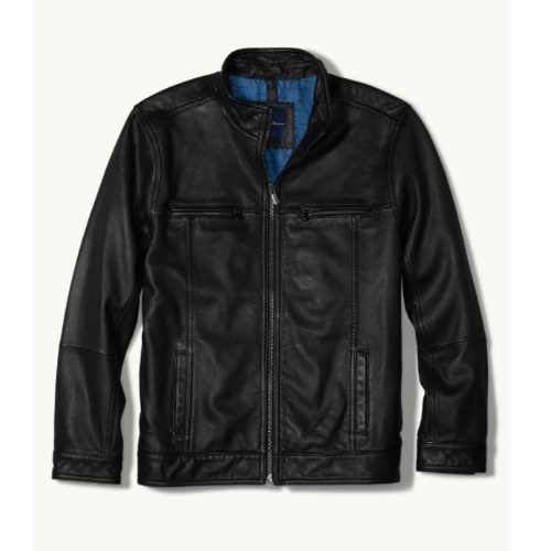 Tommy Bahama Hudson Aviator Leather Jacket Thumbnail