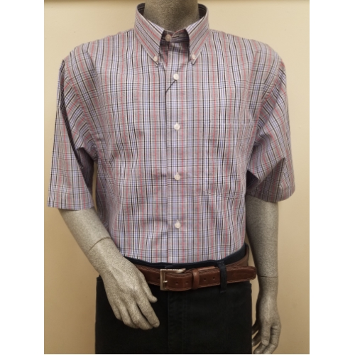 F/X Fusion Short Sleeve Plaid Sportshirt Thumbnail