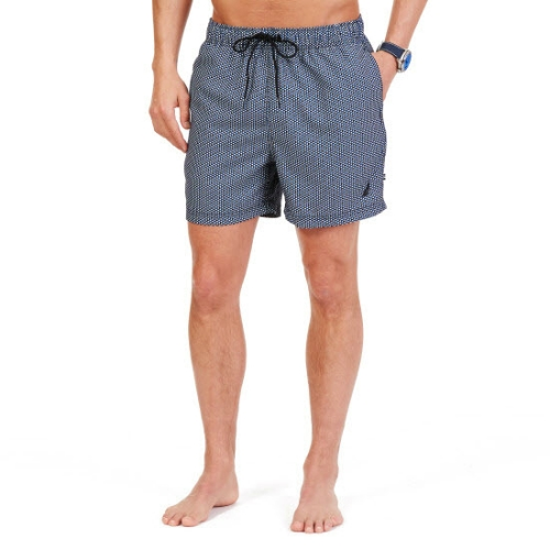 Nautica Quick Dry Printed Swim Trunk Thumbnail