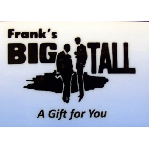 Put a Frank's Big and Tall gift card under the tree or in his stocking. 9. 2. The 4th generation of Franks Big & Tall are feeling very patriotic this morning. The Frank's Family wishes you a happy and safe July 4th holiday! Add a touch a class to any outfit with the Kangol Fedora. #mensclothing #fedora. /5(31).