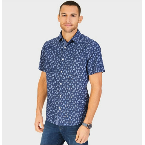 Nautica Printed Sailboat Shirt Thumbnail