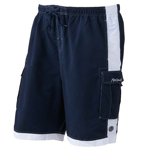 Maui and Sons Striped Cargo Swimtrunks Thumbnail