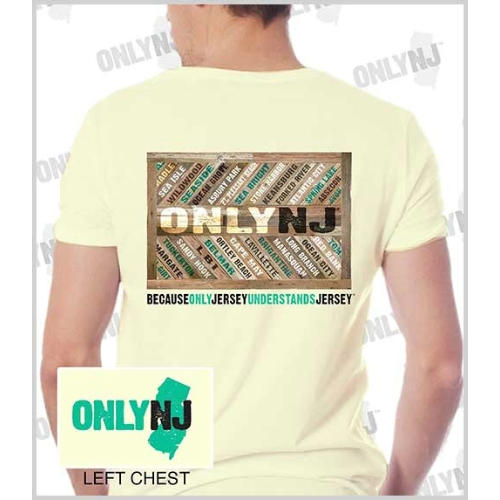 Only NJ Boardwalk Towns T-Shirt Thumbnail