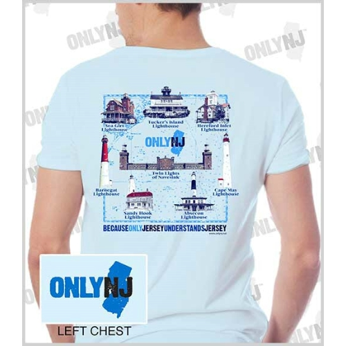 Only NJ Lighthouses T-shirt Thumbnail