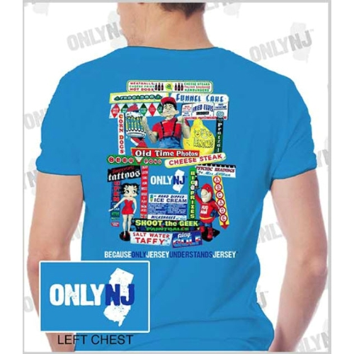 Only NJ Boardwalk Signs T-Shirt Thumbnail