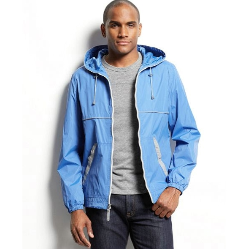 Perry Ellis Hooded Light Weight Anorak Jacket Thumbnail