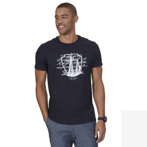 Nautica Ship Script Graphic T-Shirt Thumbnail