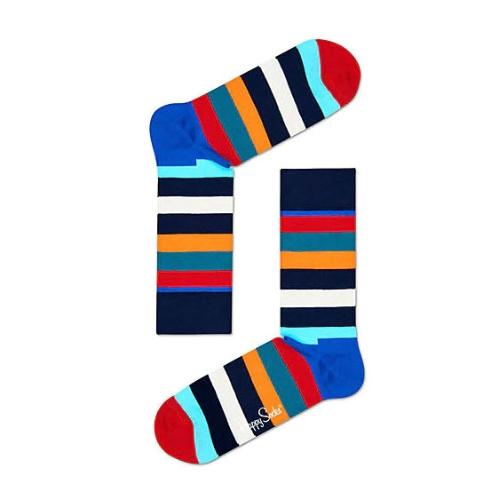 Happy Socks Unisex Stripe Sock blue//white