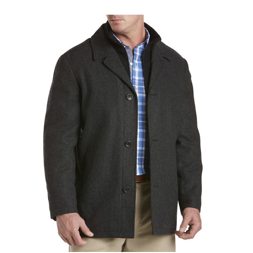 Nautica Herringbone Wool-Blend Coat Thumbnail