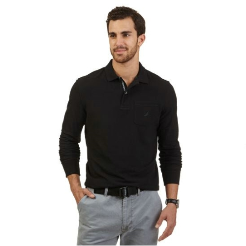 Nautica Long Sleeve Polo Shirt Thumbnail
