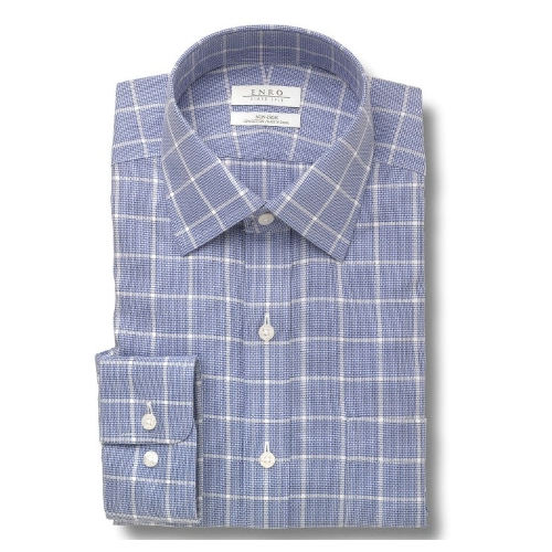 Enro Non-Iron Bishop Check Dress Shirt Thumbnail