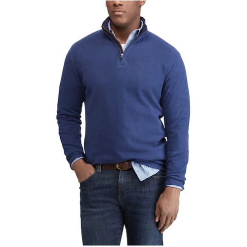 Chaps Twill Mockneck Quarter Zip Pullover Thumbnail