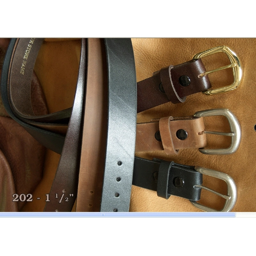 Marc Wolf Harness Leather Belt Extended Sizes Thumbnail