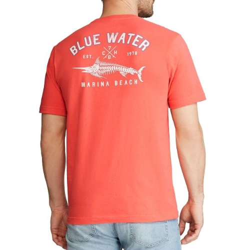 Chaps Blue Water Graphic T-Shirt Thumbnail