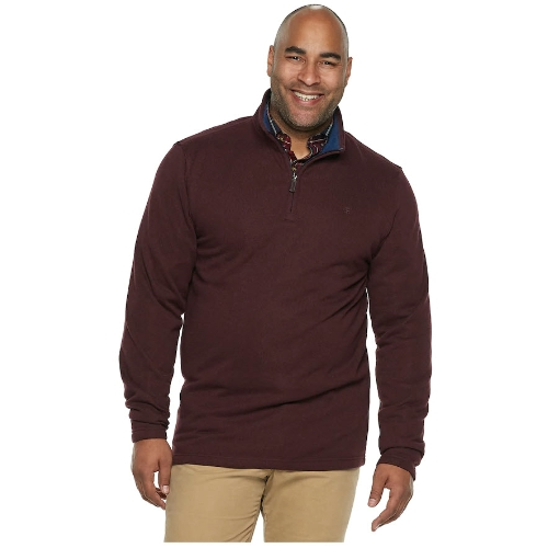 Izod Quarter-Zip Fleece Sweater Thumbnail
