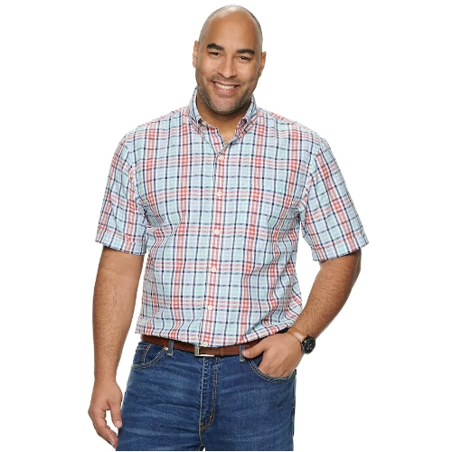 Izod Cool FX Madras Plaid Shirt Thumbnail