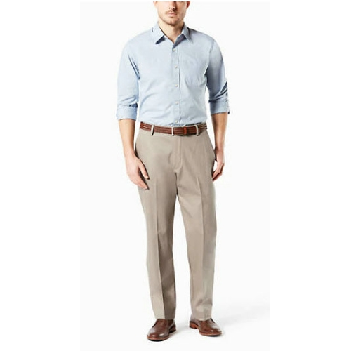Levi B&T Stretch Flat Front Dockers - Khaki Thumbnail