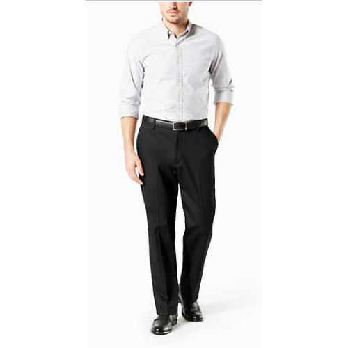 Levi B&T Stretch Flat Front Dockers - Black Thumbnail