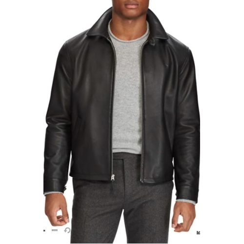 Polo Ralph Lauren Lambskin Leather Jacket Thumbnail