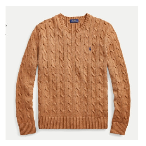 Polo Cable-Knit Cotton Sweater Thumbnail