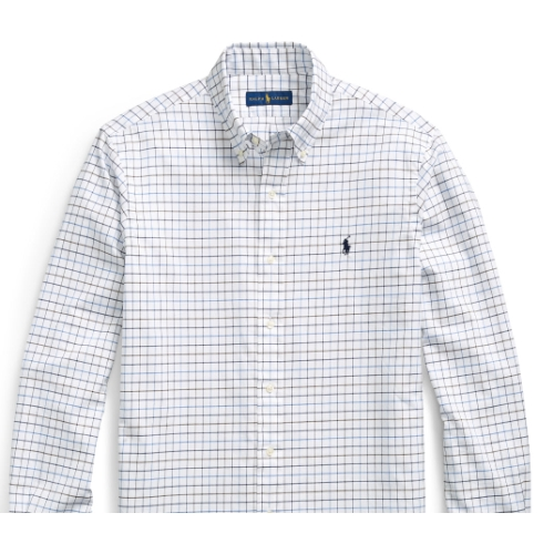 Polo Classic Fit Twill Plaid Shirt Thumbnail