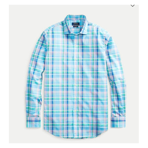 Polo Classic Fit Plaid Poplin Shirt Thumbnail