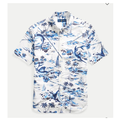 Polo Classic Fit Marlin Print Shirt Thumbnail
