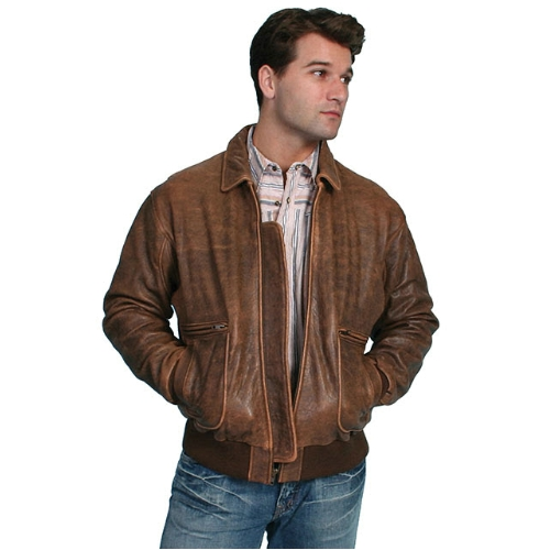 Scully Leather Bomber Jacket Thumbnail