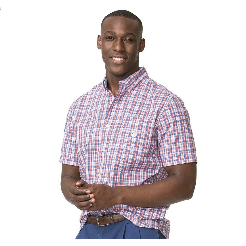 Chaps Classic-Fit Plaid Poplin Shirt Thumbnail