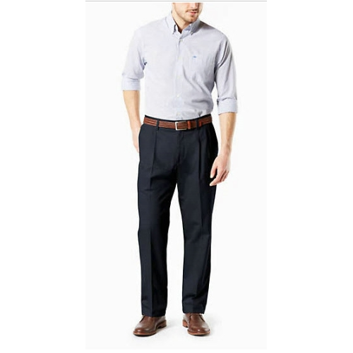 Levi B&T Stretch Pleated Dockers - Navy Thumbnail