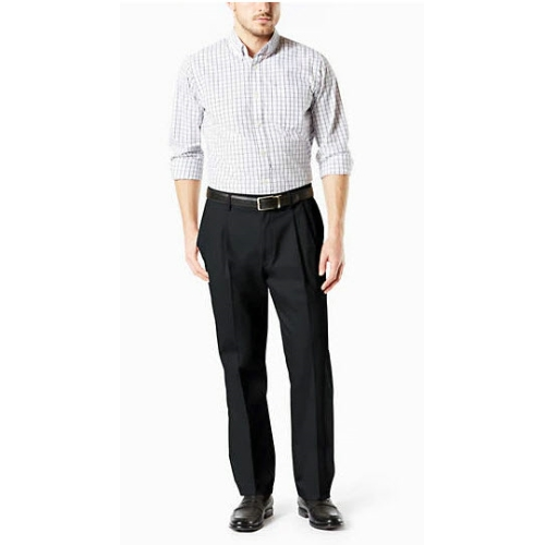 Levi B&T Stretch Pleated Dockers - Black Thumbnail