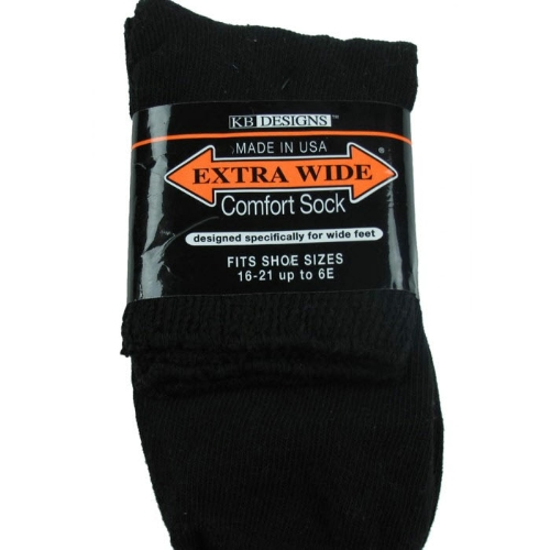 Extra Wide Quarter Top Sock - Size 8-11 Thumbnail